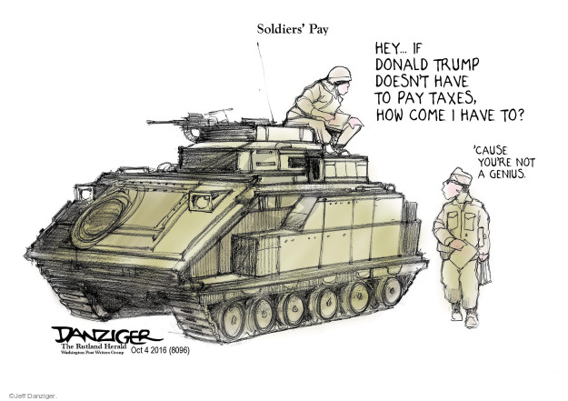 Cartoonist Jeff Danziger  Jeff Danziger's Editorial Cartoons 2016-10-04 candidacy