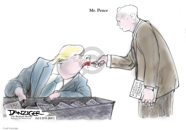 Cartoonist Jeff Danziger  Jeff Danziger's Editorial Cartoons 2016-10-05 candidacy