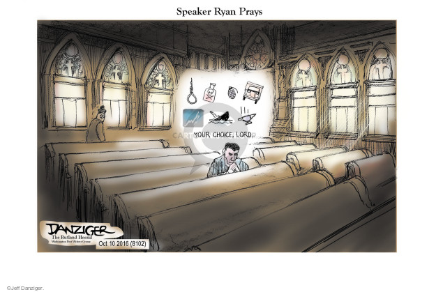 Cartoonist Jeff Danziger  Jeff Danziger's Editorial Cartoons 2016-10-11 endorsement