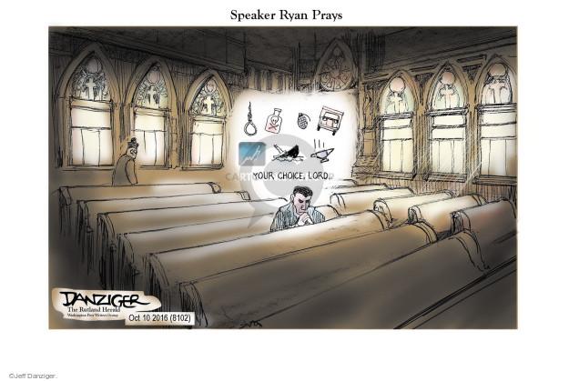 Cartoonist Jeff Danziger  Jeff Danziger's Editorial Cartoons 2016-10-11 Ryan