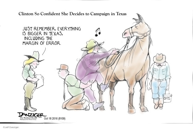 Cartoonist Jeff Danziger  Jeff Danziger's Editorial Cartoons 2016-10-19 candidacy