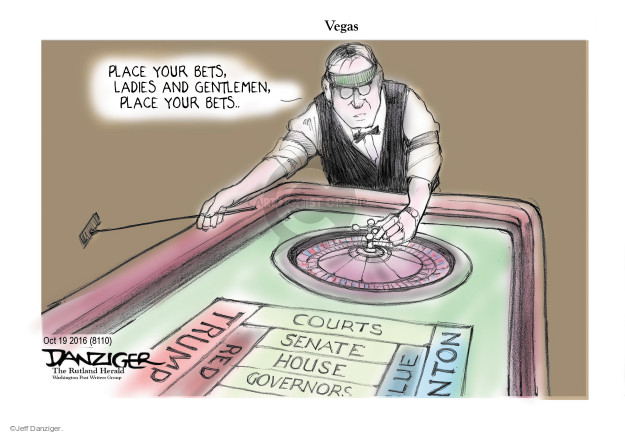 Jeff Danziger  Jeff Danziger's Editorial Cartoons 2016-10-21 2016 election debate
