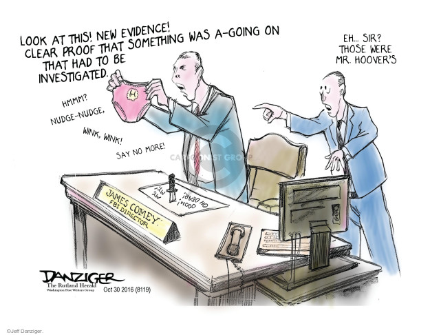 Cartoonist Jeff Danziger  Jeff Danziger's Editorial Cartoons 2016-10-30 director