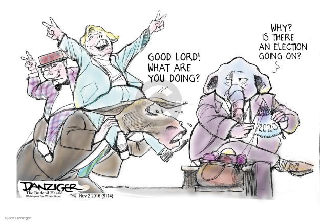 Jeff Danziger  Jeff Danziger's Editorial Cartoons 2016-11-03 nominee