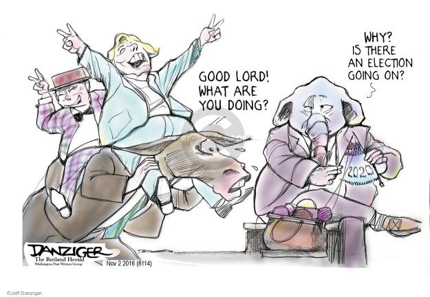 Jeff Danziger  Jeff Danziger's Editorial Cartoons 2016-11-03 republican democrat