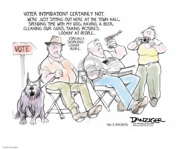 Jeff Danziger  Jeff Danziger's Editorial Cartoons 2016-11-05 voting rights