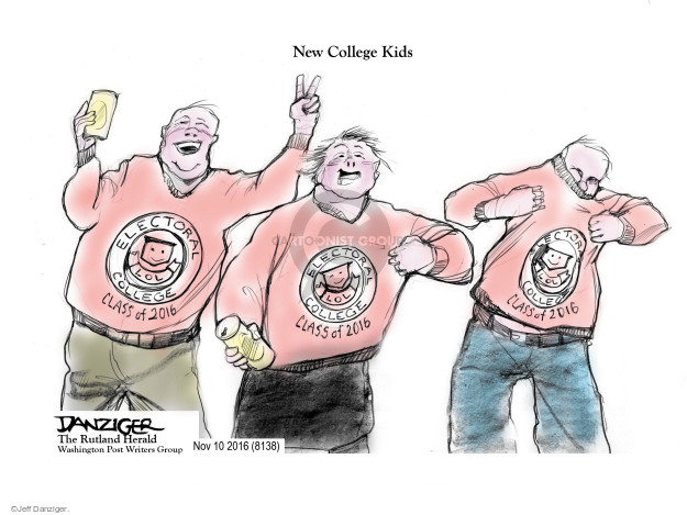 Cartoonist Jeff Danziger  Jeff Danziger's Editorial Cartoons 2016-11-11 campaign