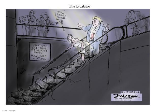Cartoonist Jeff Danziger  Jeff Danziger's Editorial Cartoons 2016-11-16 caution