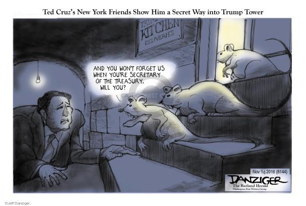 Jeff Danziger  Jeff Danziger's Editorial Cartoons 2016-11-17 2016 Election Ted Cruz