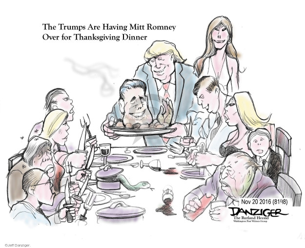 The Trumps are Having Mitt Romney Over for Thanksgiving Dinner.