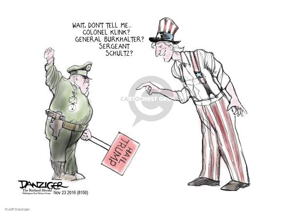 Cartoonist Jeff Danziger  Jeff Danziger's Editorial Cartoons 2016-11-25 general