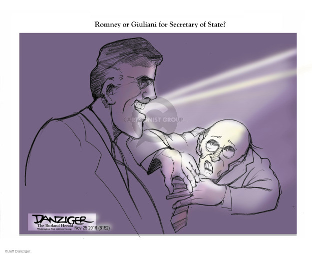 Cartoonist Jeff Danziger  Jeff Danziger's Editorial Cartoons 2016-11-26 mayor