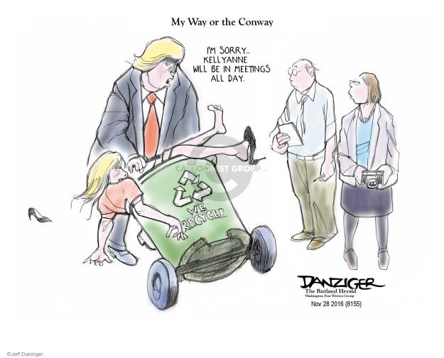 Jeff Danziger  Jeff Danziger's Editorial Cartoons 2016-12-01 recycle