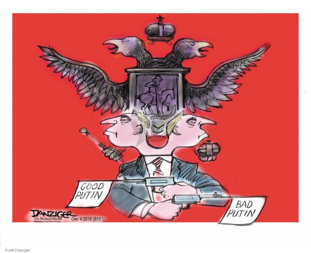 Cartoonist Jeff Danziger  Jeff Danziger's Editorial Cartoons 2016-12-05 head
