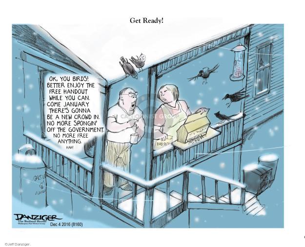 Cartoonist Jeff Danziger  Jeff Danziger's Editorial Cartoons 2016-12-06 Federal government