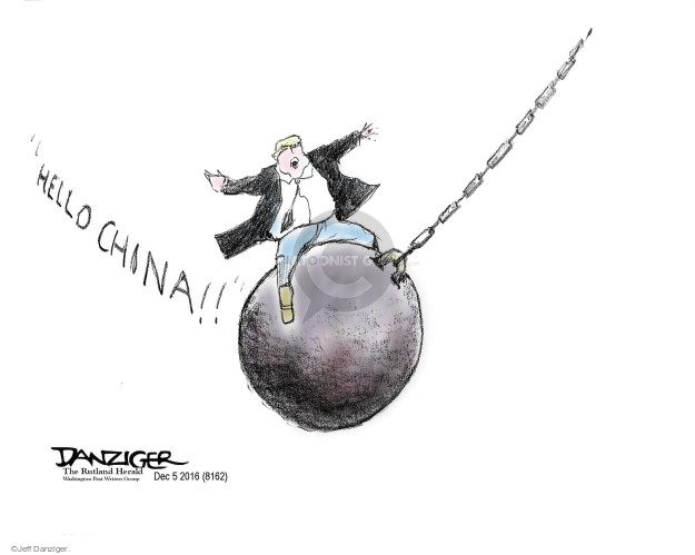 Cartoonist Jeff Danziger  Jeff Danziger's Editorial Cartoons 2016-12-08 foreign trade