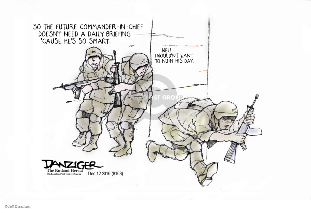 Jeff Danziger  Jeff Danziger's Editorial Cartoons 2016-12-15 armed forces
