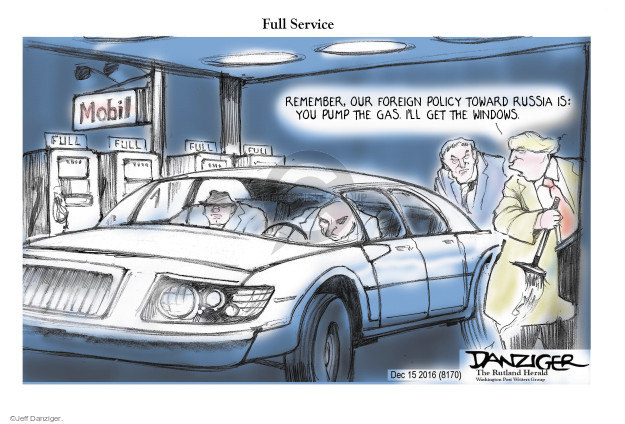 Cartoonist Jeff Danziger  Jeff Danziger's Editorial Cartoons 2016-12-17 gas