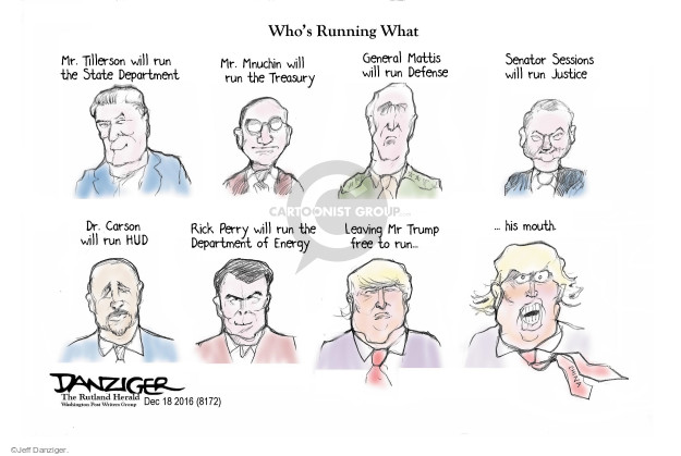 Cartoonist Jeff Danziger  Jeff Danziger's Editorial Cartoons 2016-12-19 energy