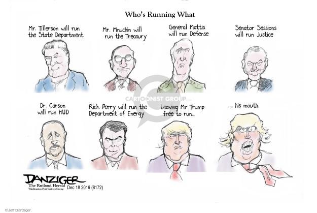 Cartoonist Jeff Danziger  Jeff Danziger's Editorial Cartoons 2016-12-19 appointment