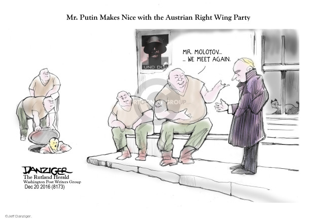 Cartoonist Jeff Danziger  Jeff Danziger's Editorial Cartoons 2016-12-20 Vladimir Putin
