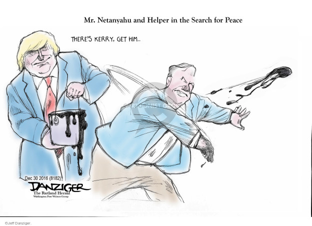 Jeff Danziger  Jeff Danziger's Editorial Cartoons 2016-12-31 United States and Israel