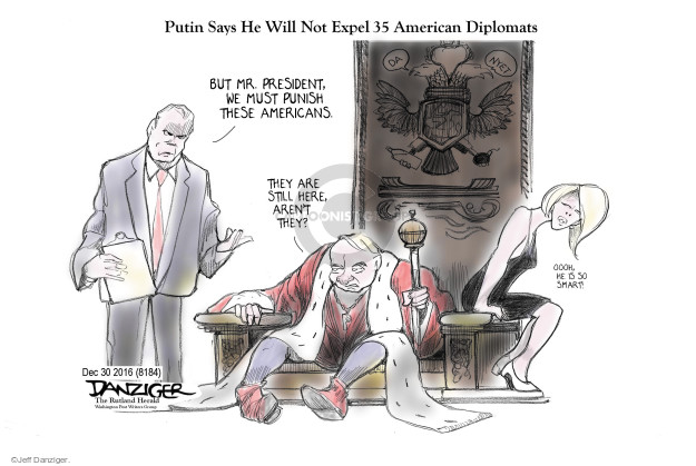 Cartoonist Jeff Danziger  Jeff Danziger's Editorial Cartoons 2017-01-02 Vladimir Putin
