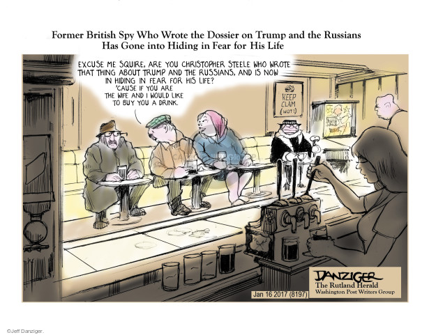 Cartoonist Jeff Danziger  Jeff Danziger's Editorial Cartoons 2017-01-18 Christopher