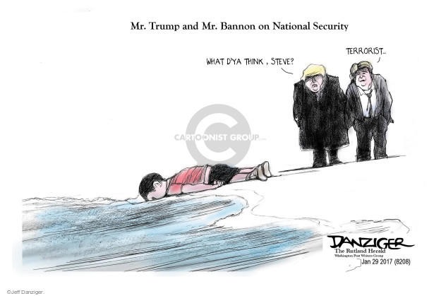 Jeff Danziger  Jeff Danziger's Editorial Cartoons 2017-01-31 terrorist