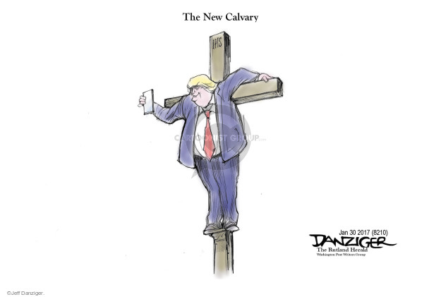 Cartoonist Jeff Danziger  Jeff Danziger's Editorial Cartoons 2017-02-01 religion