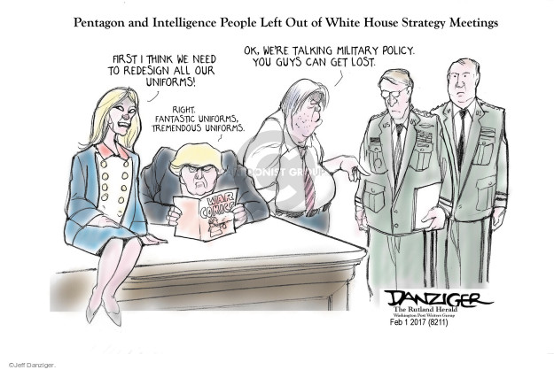 Jeff Danziger  Jeff Danziger's Editorial Cartoons 2017-02-03 armed forces