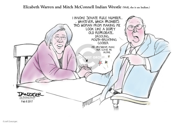 Jeff Danziger  Jeff Danziger's Editorial Cartoons 2017-02-11 Mitch McConnell