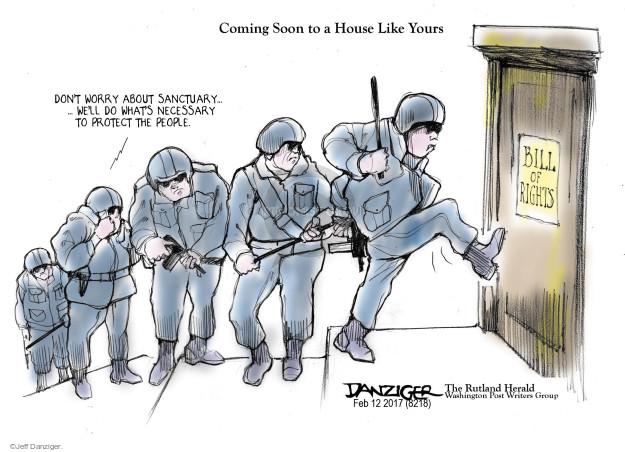 Jeff Danziger  Jeff Danziger's Editorial Cartoons 2017-02-15 immigration