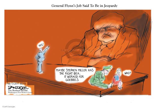 Cartoonist Jeff Danziger  Jeff Danziger's Editorial Cartoons 2017-02-16 member