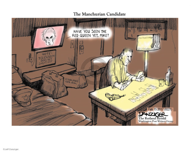 Cartoonist Jeff Danziger  Jeff Danziger's Editorial Cartoons 2017-02-18 Russian President