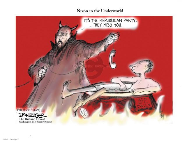 Cartoonist Jeff Danziger  Jeff Danziger's Editorial Cartoons 2017-02-20 Richard Nixon