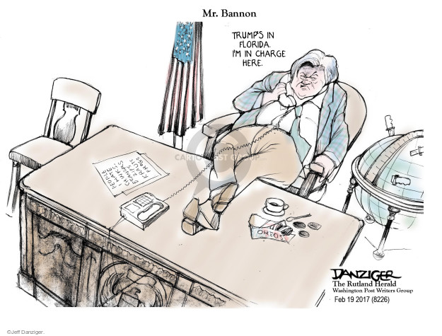 Cartoonist Jeff Danziger  Jeff Danziger's Editorial Cartoons 2017-02-22 white