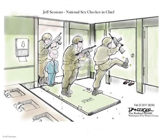 Cartoonist Jeff Danziger  Jeff Danziger's Editorial Cartoons 2017-02-25 gender