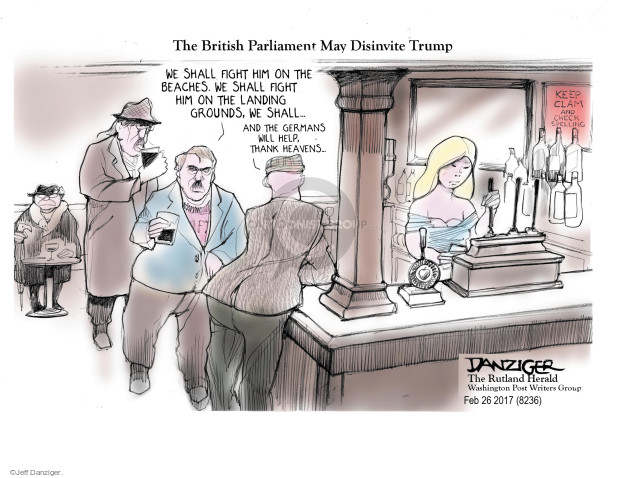 Cartoonist Jeff Danziger  Jeff Danziger's Editorial Cartoons 2017-03-01 fight