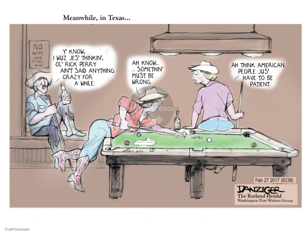 Cartoonist Jeff Danziger  Jeff Danziger's Editorial Cartoons 2017-03-04 people