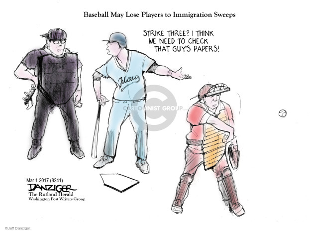 Cartoonist Jeff Danziger  Jeff Danziger's Editorial Cartoons 2017-03-05 sport