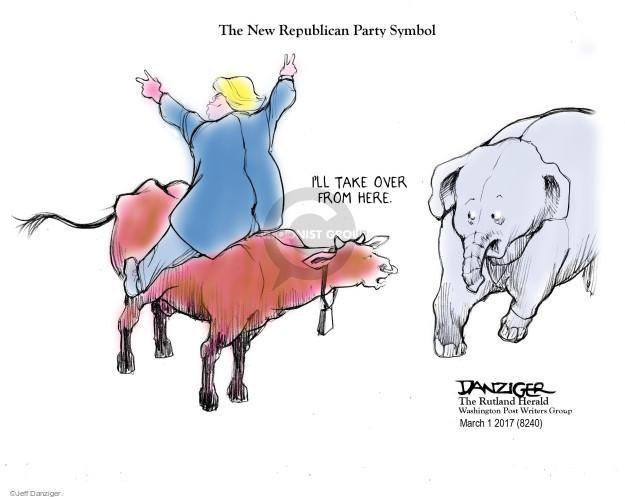 Cartoonist Jeff Danziger  Jeff Danziger's Editorial Cartoons 2017-03-06 conservative