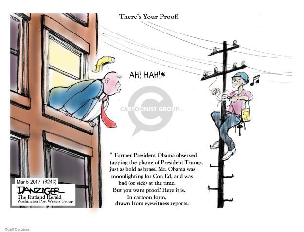 Cartoonist Jeff Danziger  Jeff Danziger's Editorial Cartoons 2017-03-07 accusation
