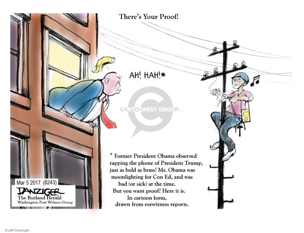 Cartoonist Jeff Danziger  Jeff Danziger's Editorial Cartoons 2017-03-07 former president