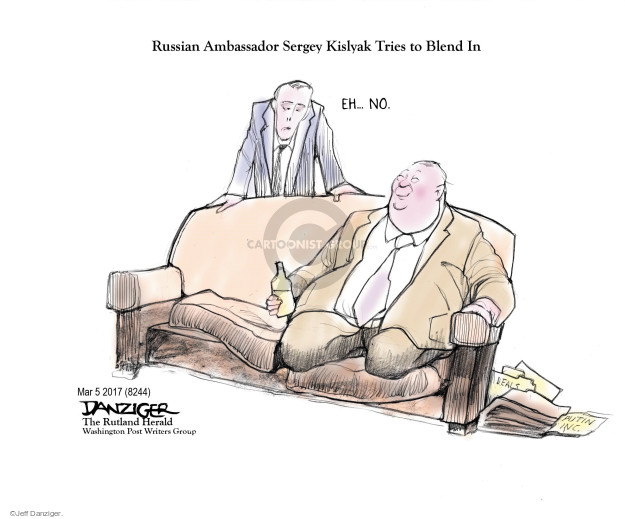 Cartoonist Jeff Danziger  Jeff Danziger's Editorial Cartoons 2017-03-08 ambassador