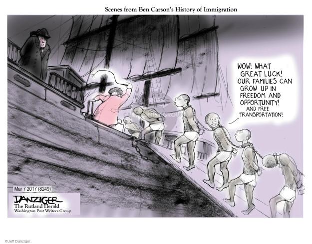 Cartoonist Jeff Danziger  Jeff Danziger's Editorial Cartoons 2017-03-10 American History