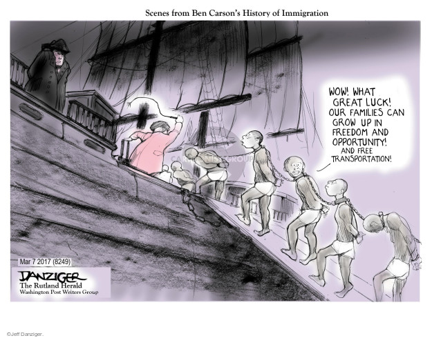 Jeff Danziger  Jeff Danziger's Editorial Cartoons 2017-03-10 speech