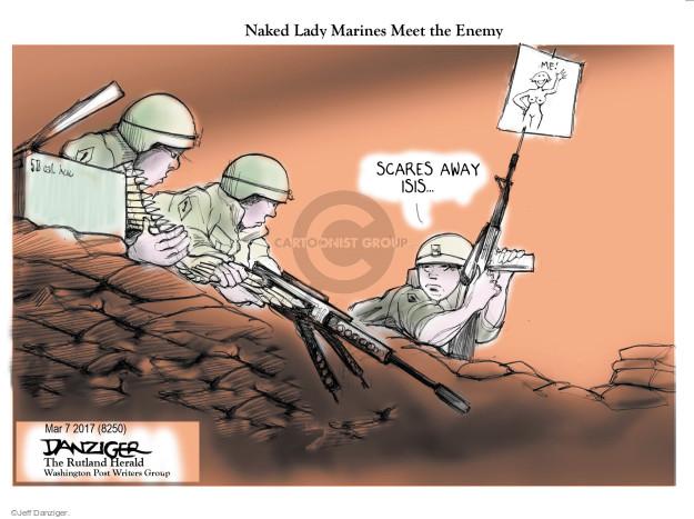 Cartoonist Jeff Danziger  Jeff Danziger's Editorial Cartoons 2017-03-11 female