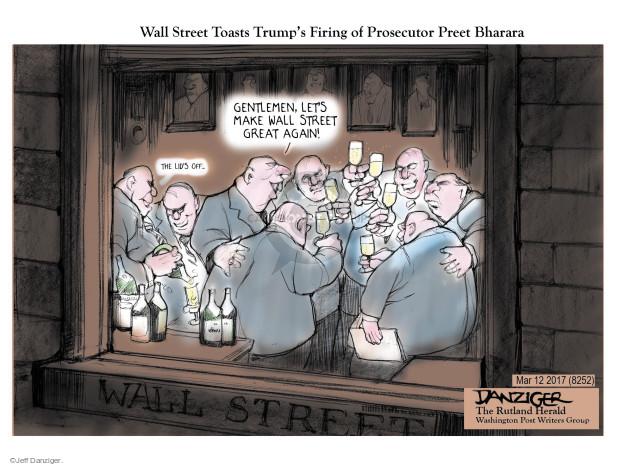 Jeff Danziger  Jeff Danziger's Editorial Cartoons 2017-03-12 finance