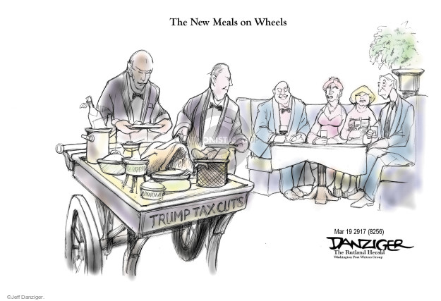 Cartoonist Jeff Danziger  Jeff Danziger's Editorial Cartoons 2017-03-18 budget